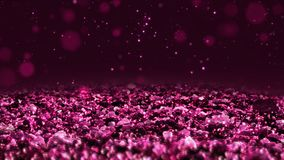 Pink shiny glitter seamless loop abstract texture close up macro background