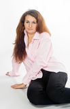 In pink shirt Stock Photo