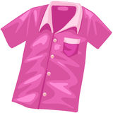 Pink shirt stock illustration