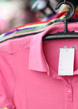Pink shirt on a hanger. Royalty Free Stock Images