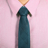 Pink Shirt With Dark Blue Necktie Royalty Free Stock Images