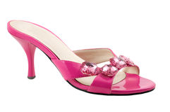 The pink shoe. Are photographed on the white background Royalty Free Stock Image