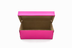 Pink shoe box. Stock Photography