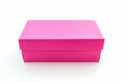 Pink shoe box Stock Photo
