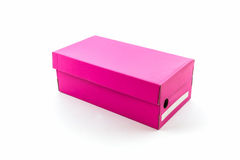 Pink shoe box. Royalty Free Stock Photography