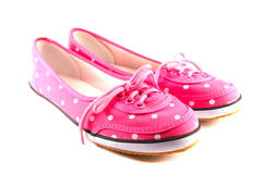 Pink shoe Stock Images