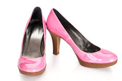 Pink shoes Stock Image