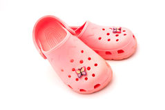 pink shoes 库存图片