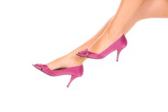 Pink shoes Stock Images
