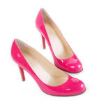 Pink shoes. Isolated on white with clipping path Royalty Free Stock Photography