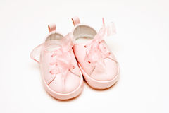 Pink shoes for a baby girl Stock Photography