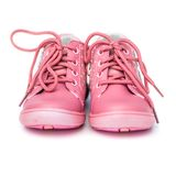 Pink shoes for baby Stock Image