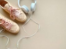 Pink Shoes and Music royalty free stock photo