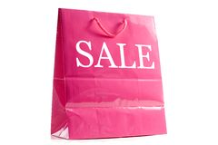 Pink Shopping Bag Stock Image