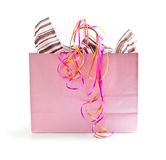 Pink shopping bag Royalty Free Stock Image