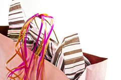 Pink shopping bag Royalty Free Stock Photo