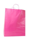 Pink Shopping Bag Isolated Stock Image