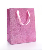 Pink shopping bag Stock Photos