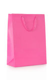 Pink shopping bag in paper Royalty Free Stock Photo
