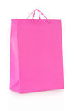 Pink shopping bag in paper Stock Photos