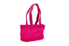 Pink shopping bag  on white Stock Photo