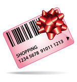 Pink shopping gift card. Stock Images