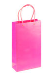 Pink shopping paper bag on Royalty Free Stock Images
