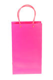 Pink shopping paper bag on Royalty Free Stock Image
