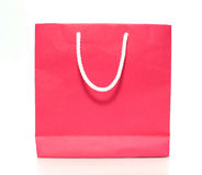 Pink shopping paper bag Royalty Free Stock Images