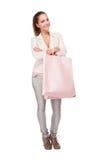Pink shopping. Stock Photos