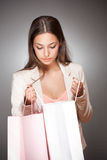 Pink shopping. Royalty Free Stock Photography