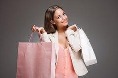 Pink shopping. Royalty Free Stock Image