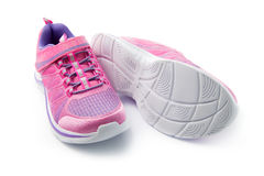 Pink short shoes Stock Photos