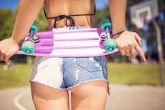 Pink shortboard Stock Photo