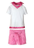 Pink shorts and t-shirt Royalty Free Stock Photo