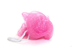 Pink Shower Scrubber Royalty Free Stock Photography