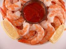 Pink Shrimp on Ice Royalty Free Stock Image