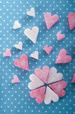 Pink shugar hearts for valentine's day Stock Photo