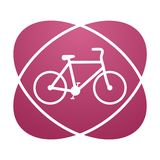Pink sign bicycle Royalty Free Stock Images
