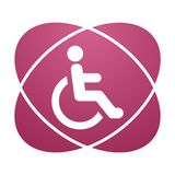 Pink sign Disabled icon sign Accessibility Royalty Free Stock Image