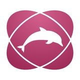 Pink sign dolphin vector illustration