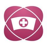 Pink sign nurse cap Stock Images