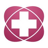 Pink sign Plus, Hospital ,Pharmacy, Clinic Royalty Free Stock Photos