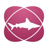 Pink sign shark. Vector icon Royalty Free Stock Image