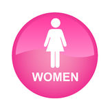 Pink signle woman. Pink single woman on a white background Stock Image