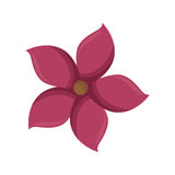 Pink silhouette figure flower icon floral Stock Image