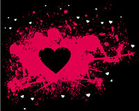 Pink silhouette of heart Royalty Free Stock Photo