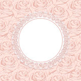Pink silhouette of rose. Stock Images