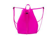 Pink silicone backpack. Stock Image