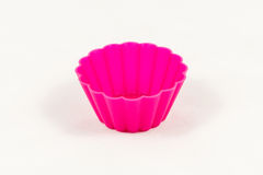 Pink silicone cake cups Stock Photos